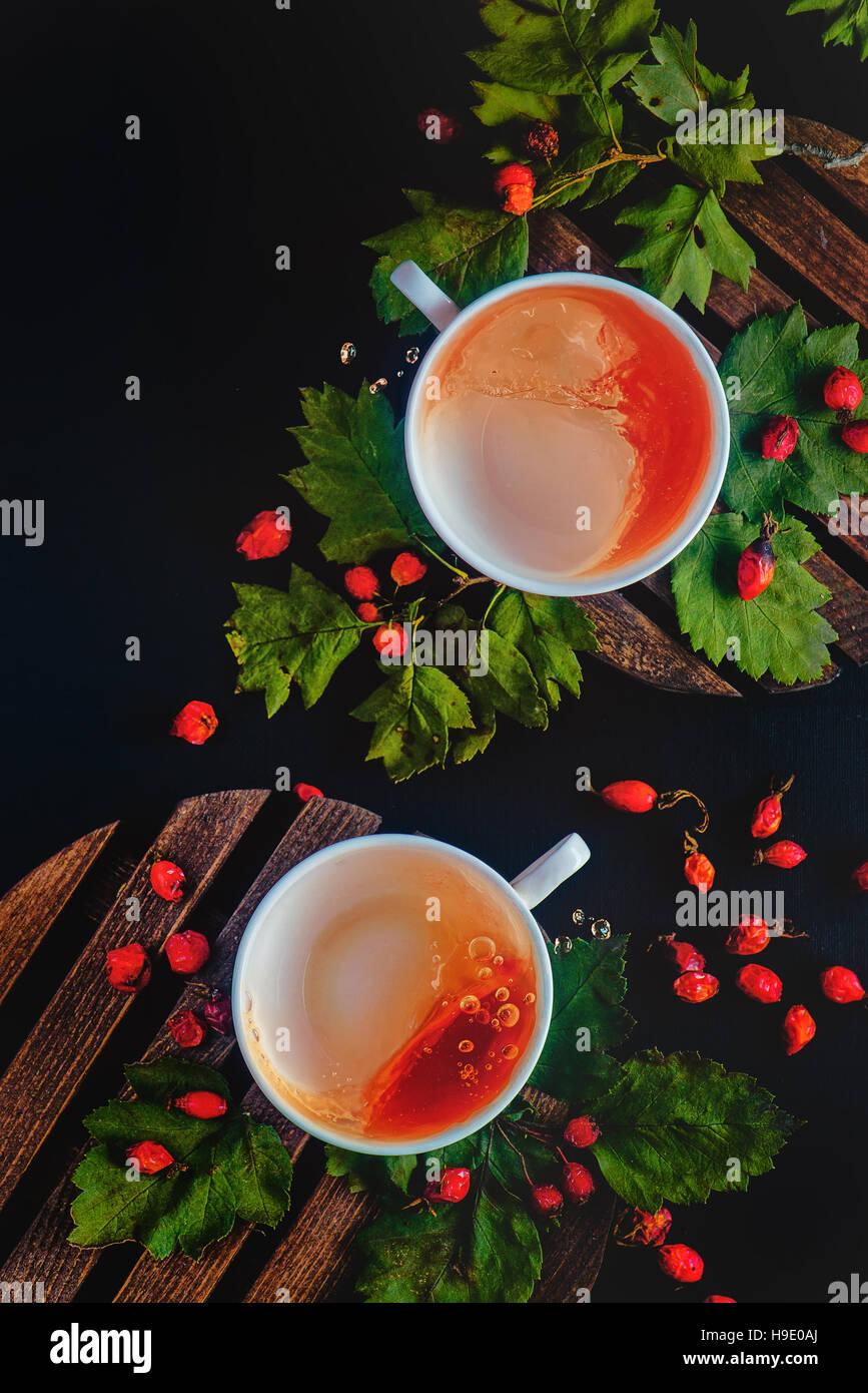 Tè per maltempo volute e serie di onde Immagini Stock