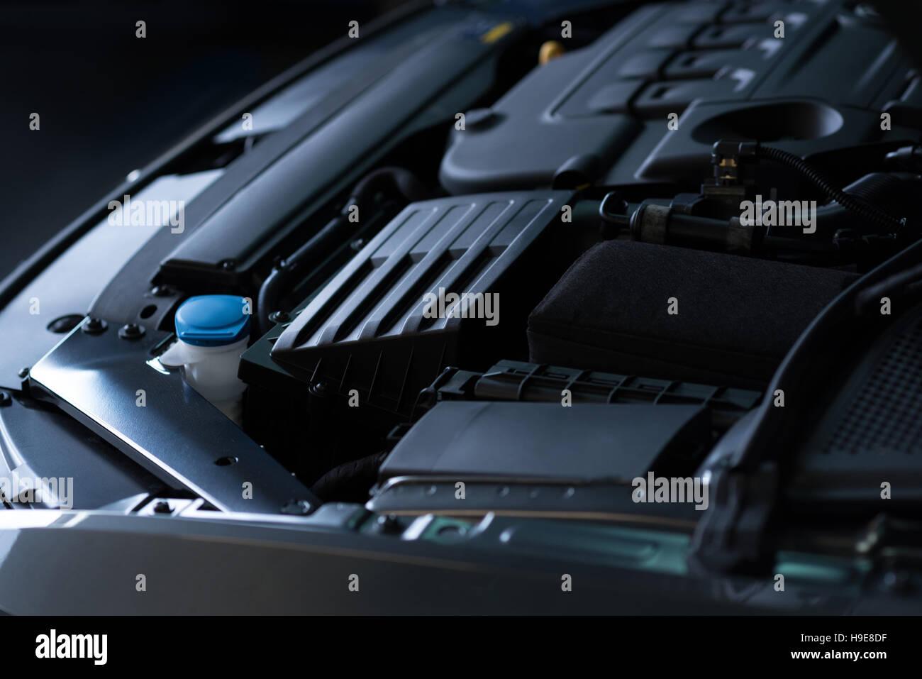 Close up di auto a motore Immagini Stock