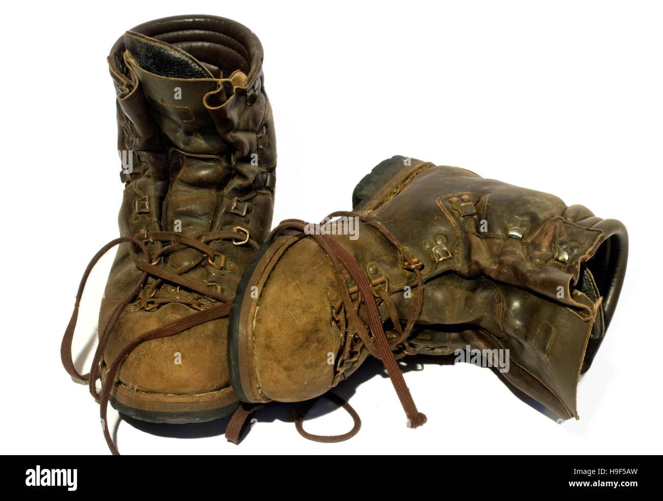 quality design 1c22d 3d75a Una coppia di vecchi, pelle scarponi da montagna Foto ...