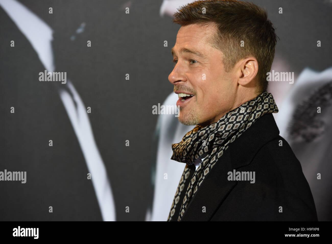 """Madrid, Spagna. 22 Novembre, 2016. L'attore americano e produttore William Bradley """""""" Brad Pitt, ha Immagini Stock"""