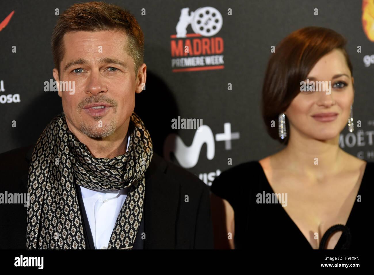 """Madrid, Spagna. 22 Novembre, 2016. L'attore americano e produttore William Bradley """""""" Brad Pitt e Immagini Stock"""