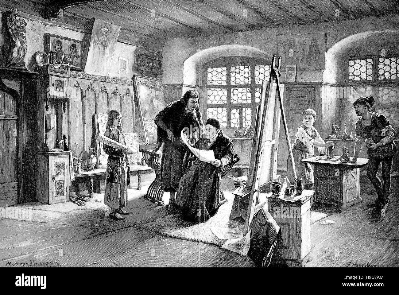 """""""Il giovane Albrecht Dürer, proviene da Michael Wolgemut, Wohlgemuth; 1434 ?- 30 novembre 1519, come un Immagini Stock"""