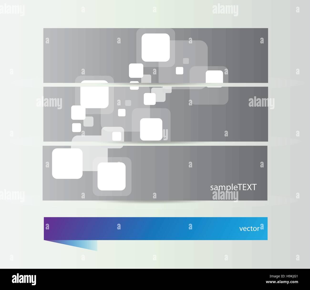 Abstract vivace piazza striscioni - set di vettore illustrazione Immagini Stock