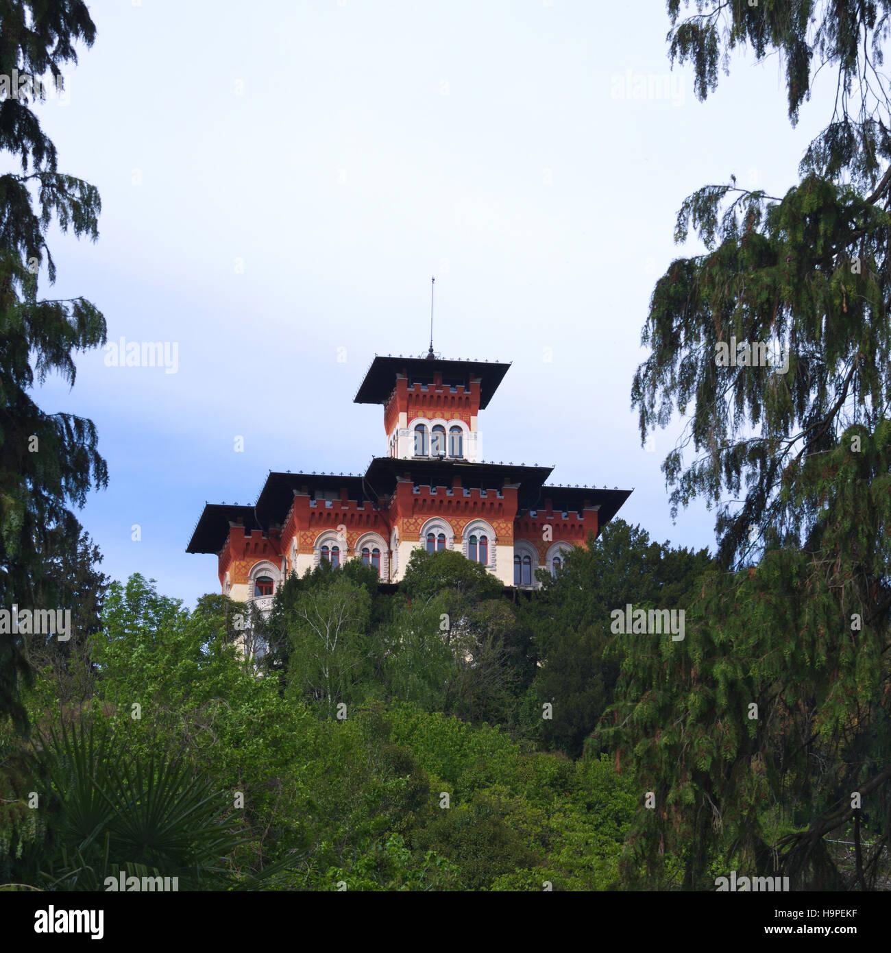 Villa Moretti (stile liberty house) a Tarcento, Friuli, Italia Immagini Stock