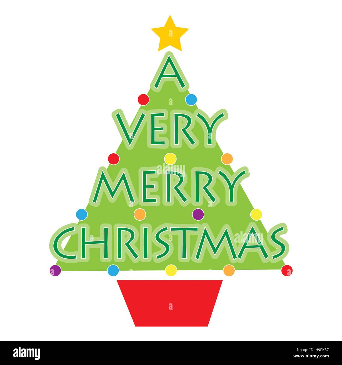 Immagini Natalizie Stilizzate.Stilizzato Di Un Albero Di Natale Con Le Parole Di Un Molto Buon