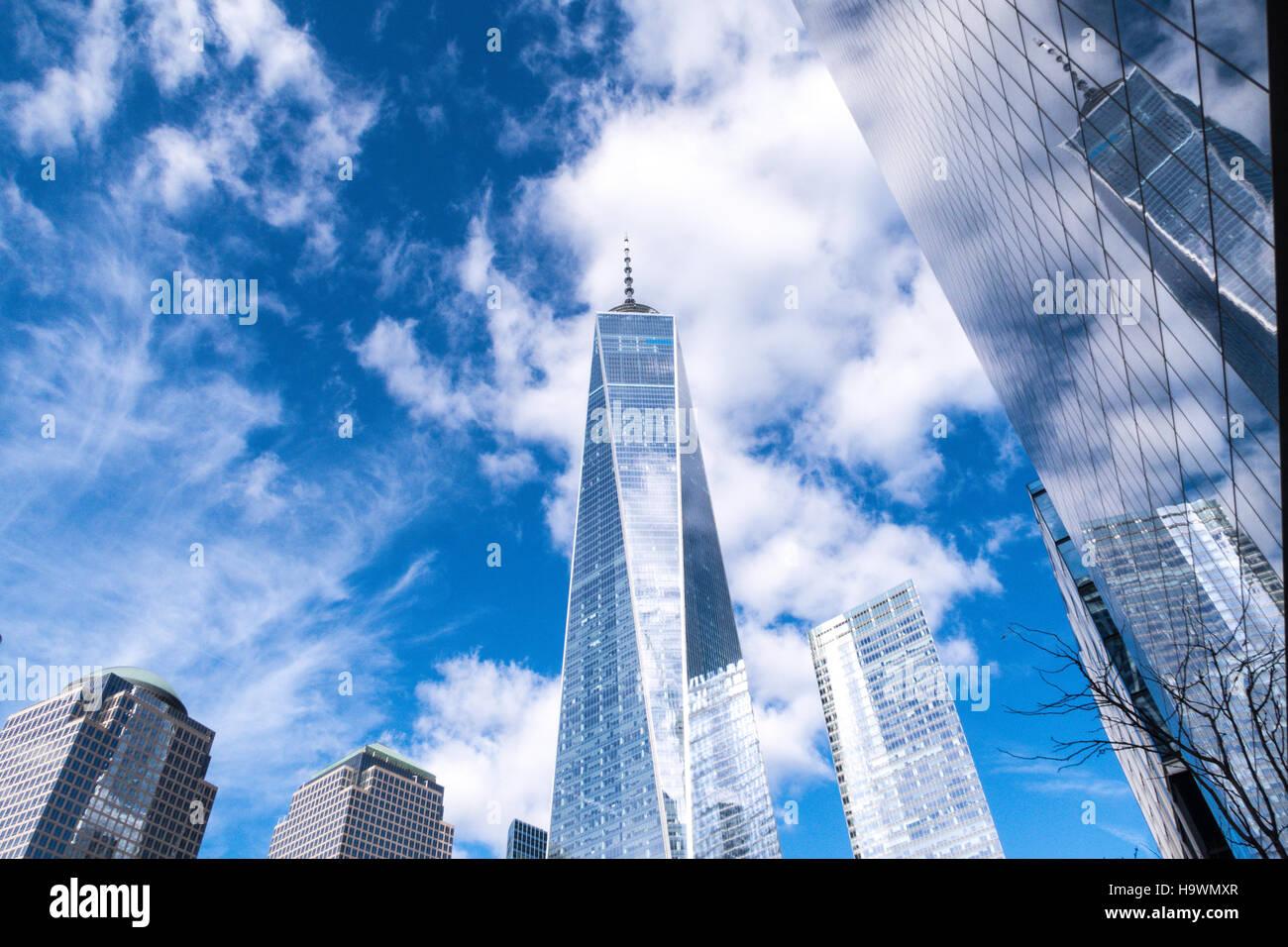 World Trade Center, la parte inferiore di Manhattan, New York, Stati Uniti d'America Immagini Stock