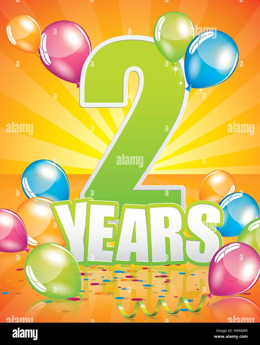 2 Anni Biglietto Di Auguri Di Compleanno Completa Degli
