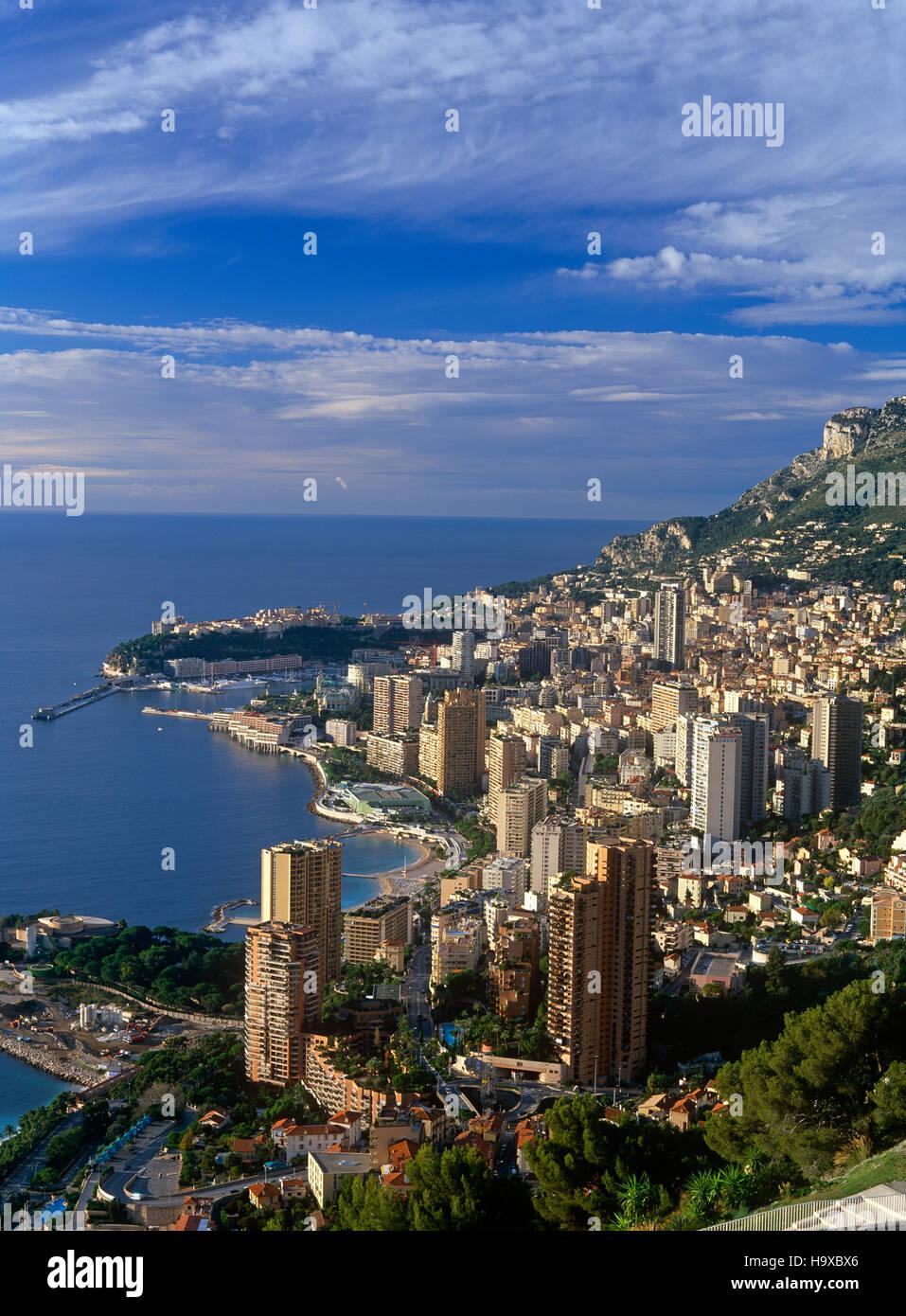 Vista in elevazione del Monte Carlo, Monaco Immagini Stock