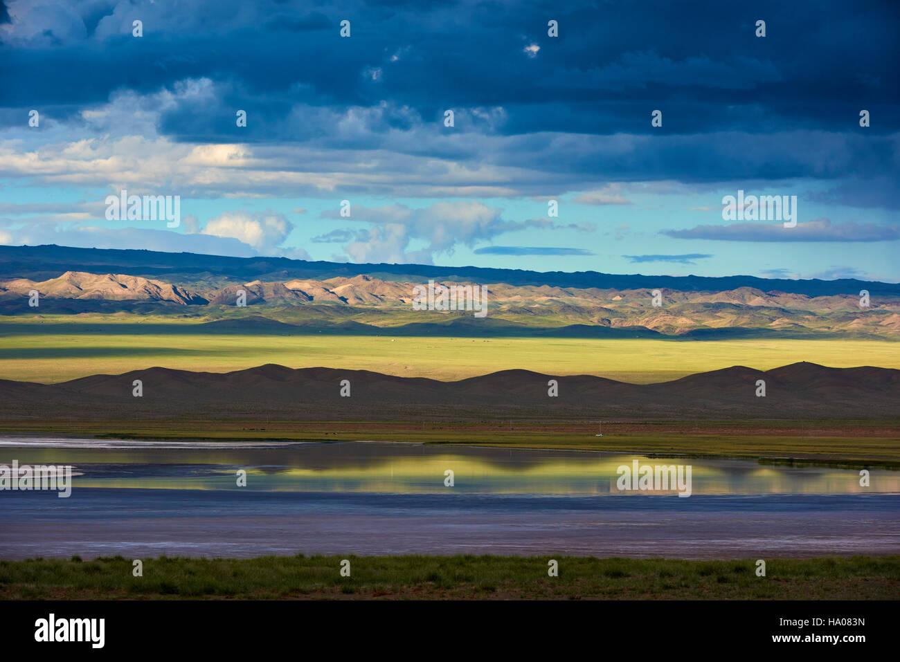 Mongolia, Gobi-Altay provincia, Mongolia occidentale, paesaggio nella steppa Immagini Stock