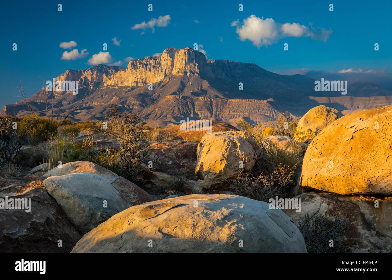El Capitan è un picco in Culberson County, Texas, Stati Uniti, nel Parco Nazionale delle Montagne Guadalupe Immagini Stock