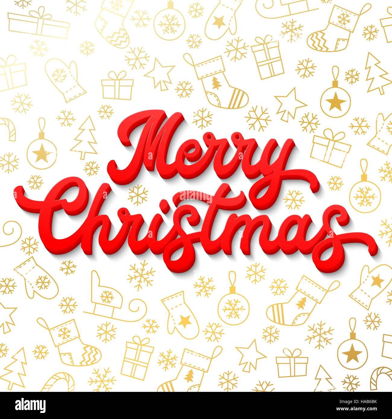 Buon Natale 3d.Auguri Di Buon Natale Red 3d Xmas Lettering Iscrizione Sul Bianco E
