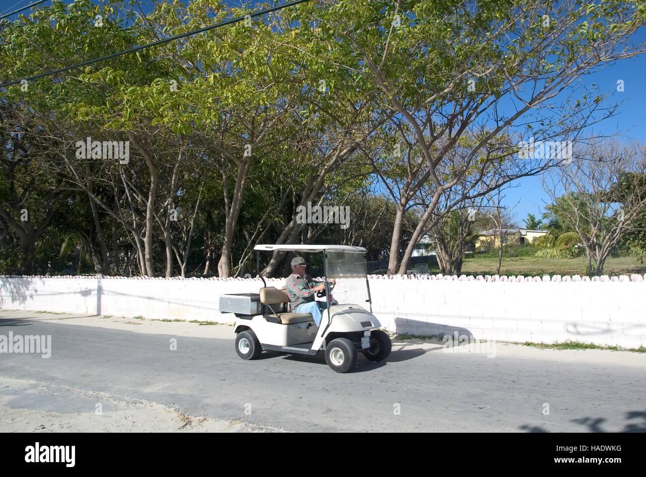 Un Turista Scorre Un Carrello Da Golf Lungo Il Re Della Strada