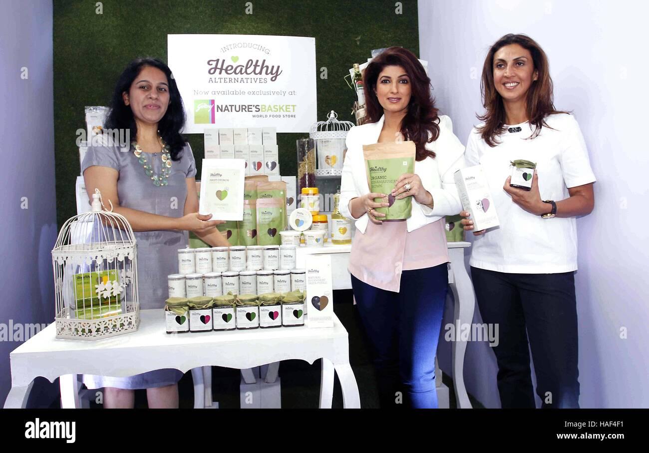 Avani Davda Godrej natura il paniere di Twinkle Khanna Tanya Dubash, Direttore Esecutivo e Chief Brand Officer del Immagini Stock