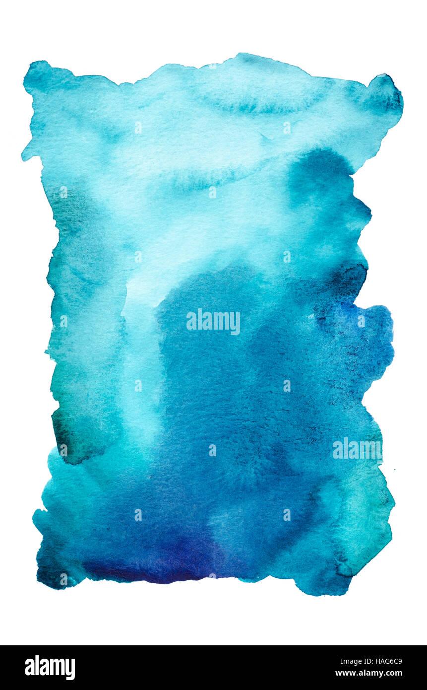 Acquerello sfondo astratto dipinto a mano su bianco Immagini Stock