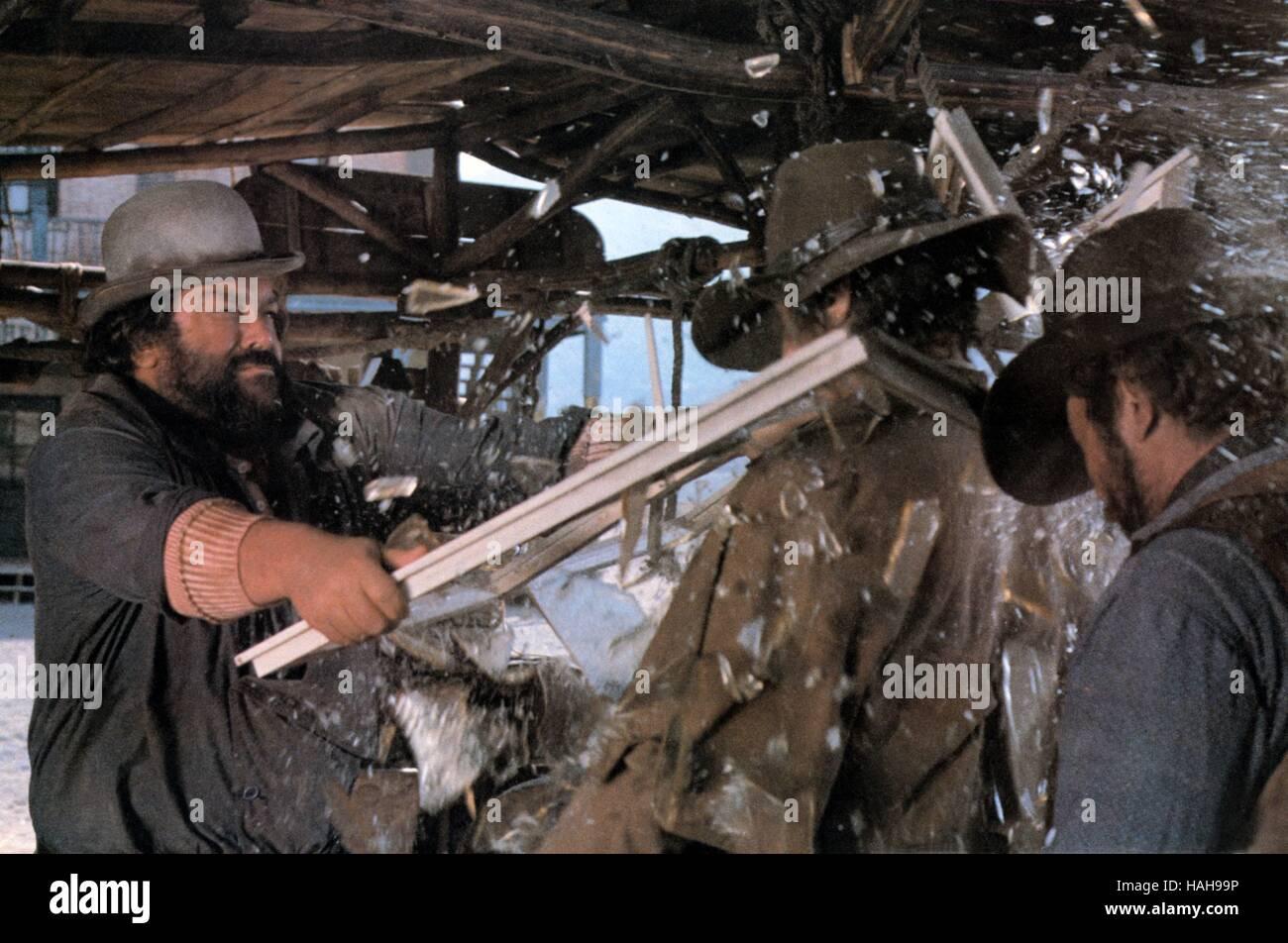 Buddie goes West Occhio alla penna Anno : 1981 Italia Direttore : Michele Lupo Bud Spencer Immagini Stock