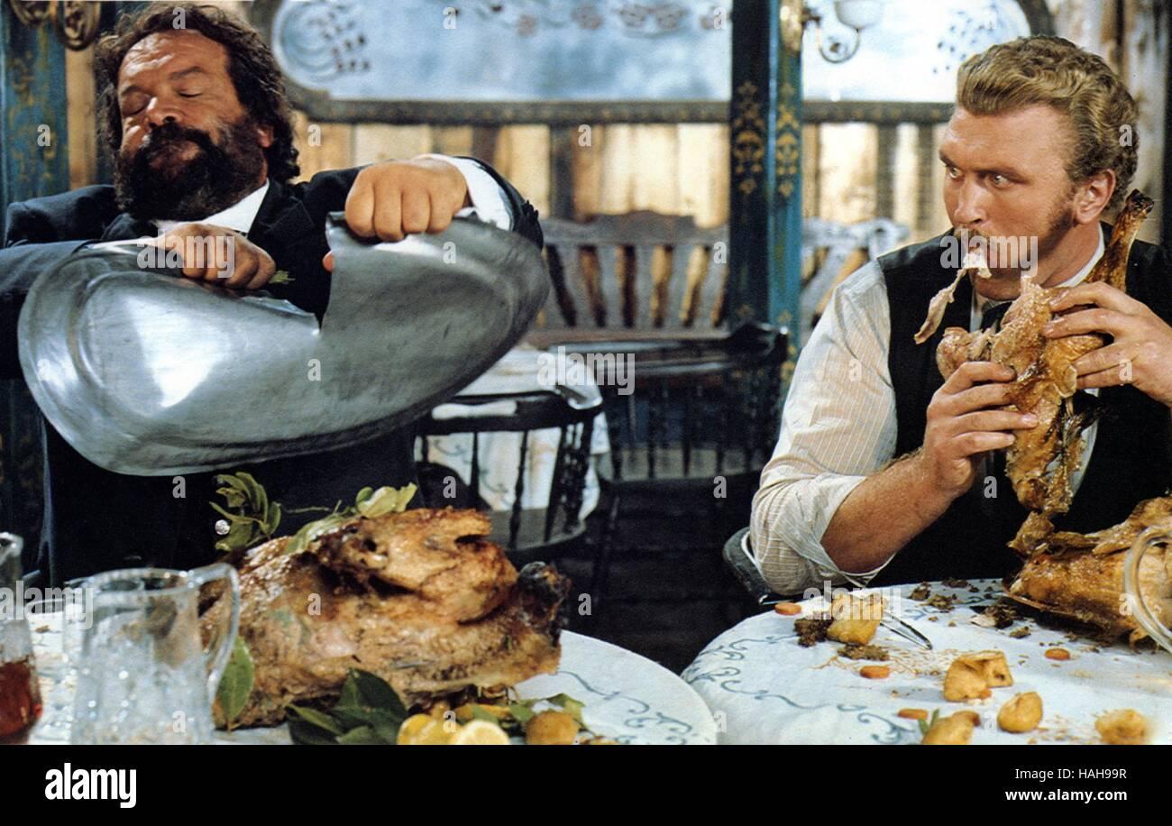 Buddie goes West Occhio alla penna Anno : 1981 Italia Direttore : Michele Lupo Bud Spencer, Joe Bugner Immagini Stock