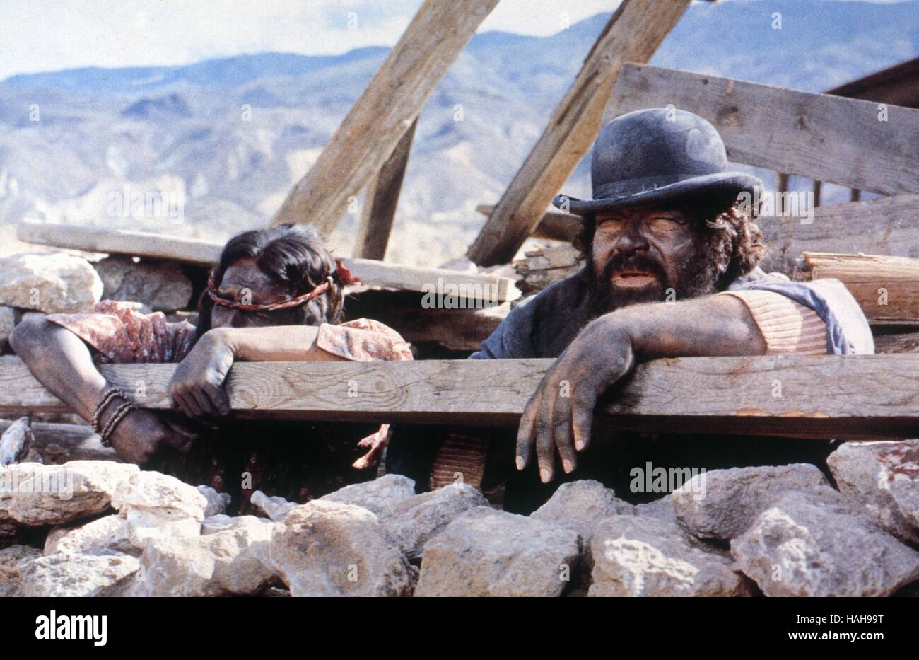 Buddie goes West Occhio alla penna Anno : 1981 Italia Direttore : Michele Lupo Bud Spencer, Amidou Immagini Stock