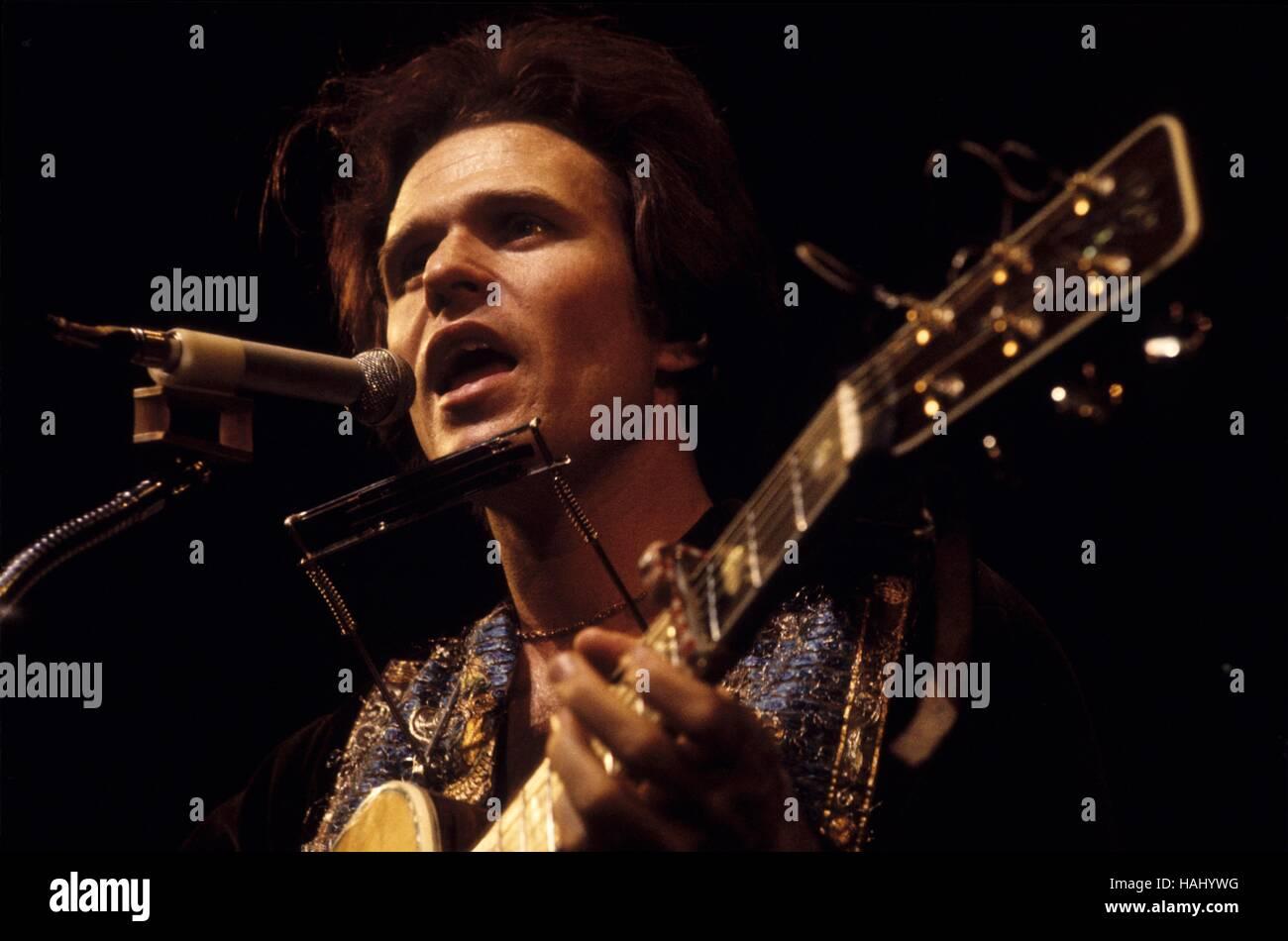 Country Joe McDonald - 28/03/1971 - Francia / Ile-de-France (Regione) / Parigi - Concerto Country Joe McDonald, Immagini Stock