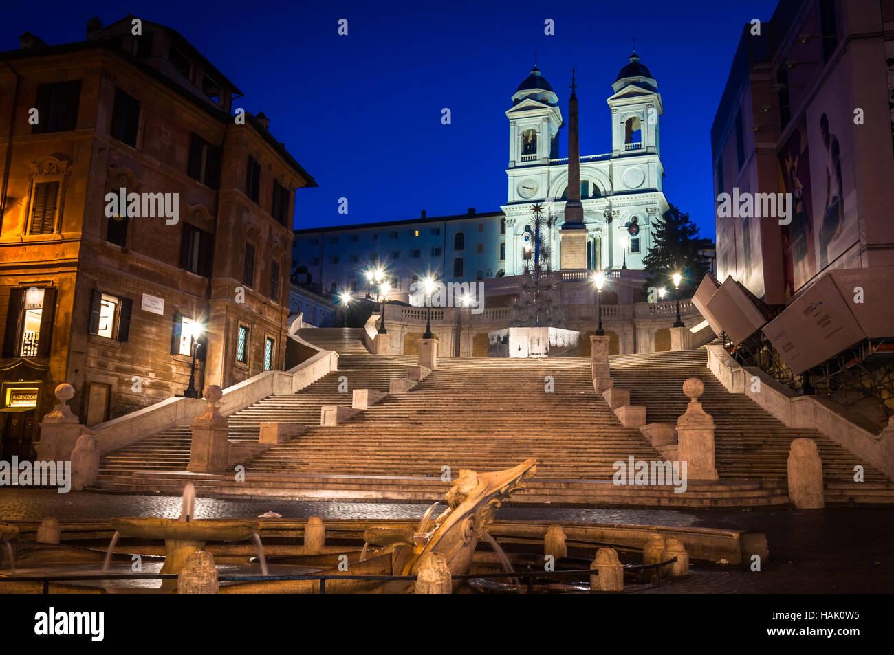 Scalinata di piazza di Spagna, Roma. Immagini Stock