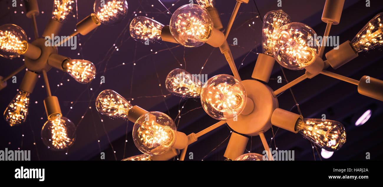 Sistemi Di Illuminazione A Led abstract frammento interno. stilizzato e sistema di