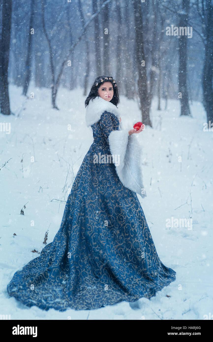 Ritratto di Snow White Immagini Stock