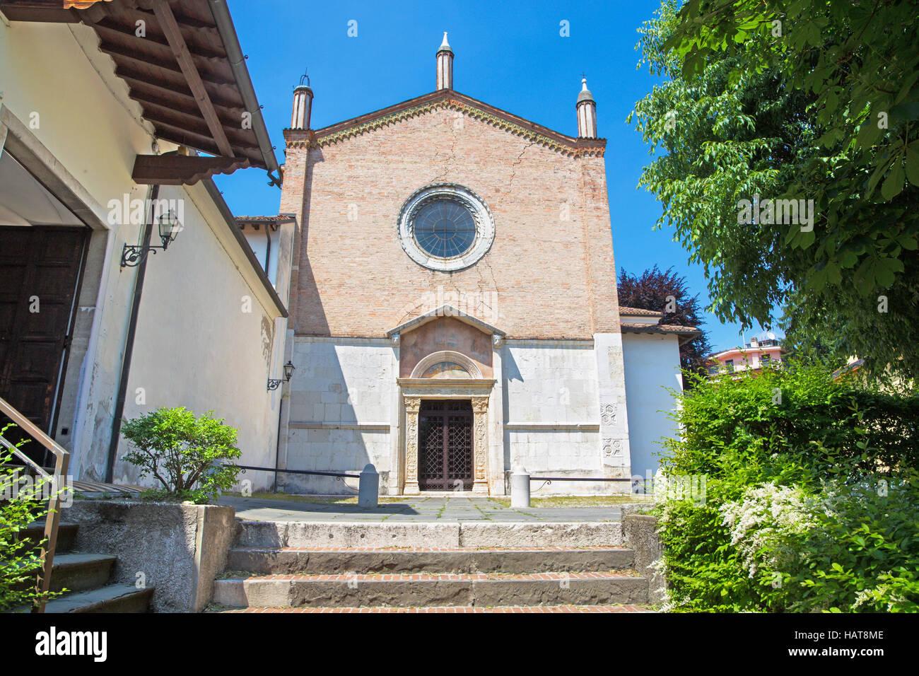 Brescia - La facciata della chiesa del Santissimo Corpo di Cristo . Immagini Stock