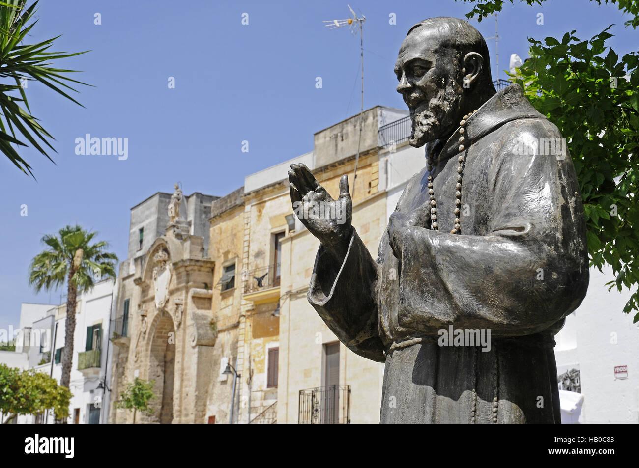 Padre Pio, sacerdote, memorial, Oria, Italia Immagini Stock