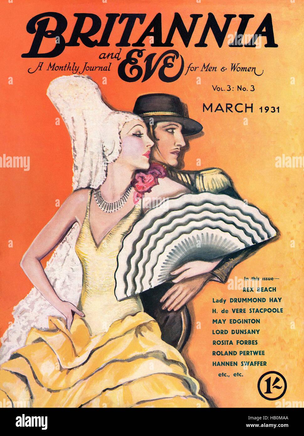 Coperchio anteriore della Britannia e vigilia magazine per il mese di marzo 1931 Immagini Stock