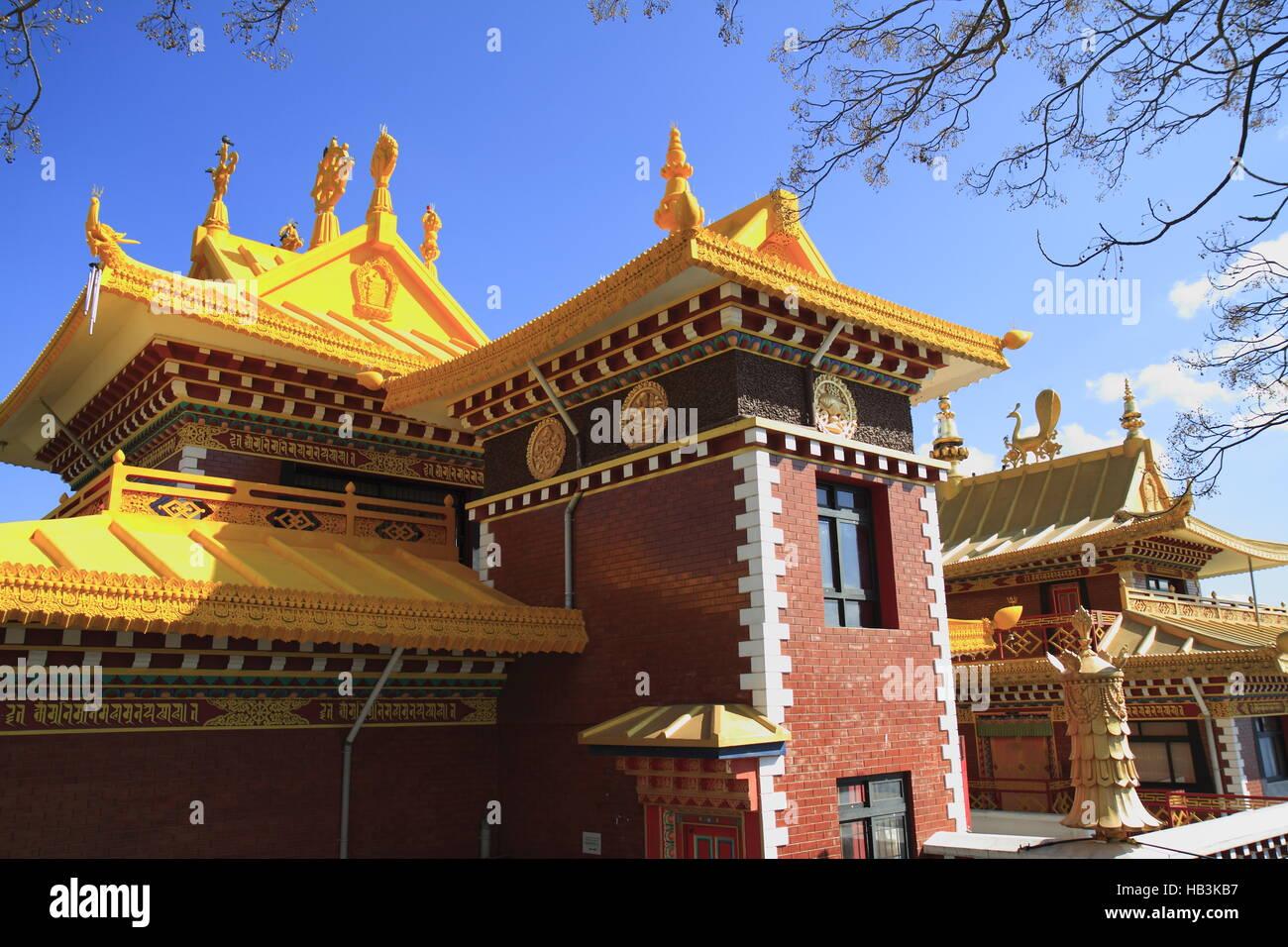 Thrangu Tashi Yangtse Moastery Immagini Stock