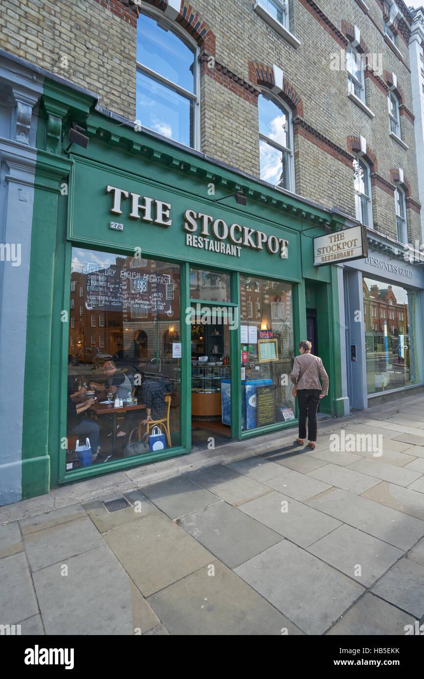 La pentola di Chelsea, ristorante economico, Londra Immagini Stock