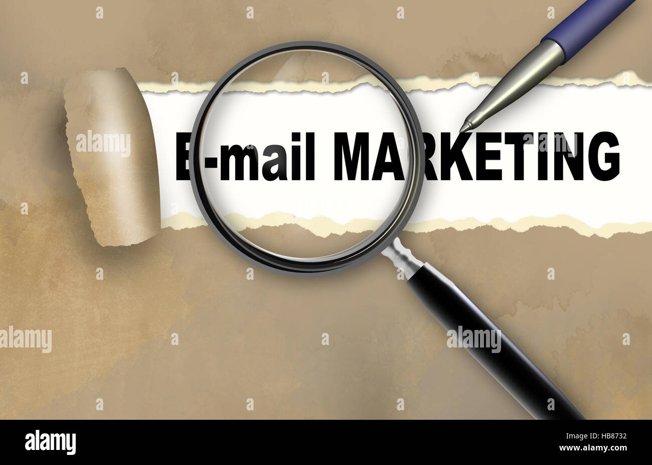E-mail marketing Immagini Stock
