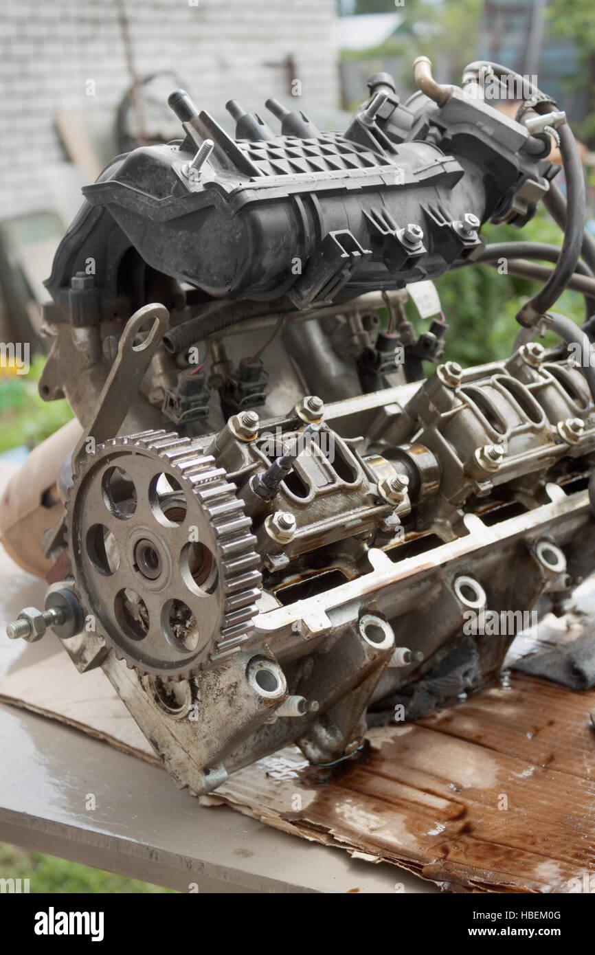 Il motore difettoso veicolo Immagini Stock