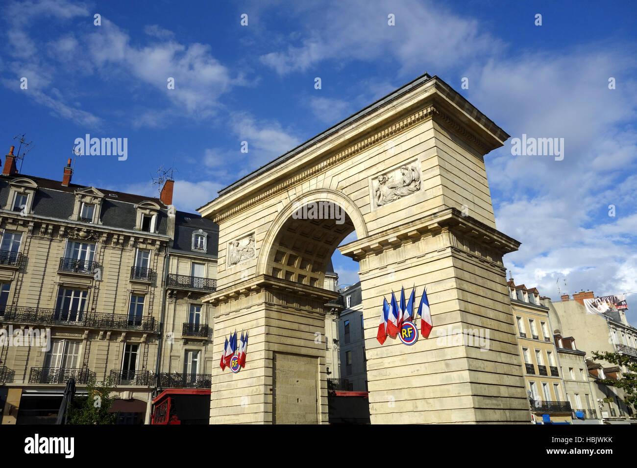 Porte Guillaume nel Grand Est Dijon Immagini Stock