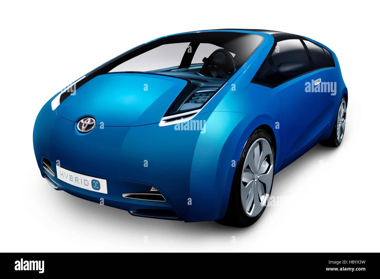 Toyota Hybrid-X concept car ibrida Immagini Stock