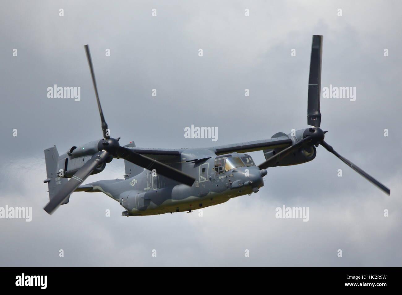 Bell Boeing V-22 Osprey a rotore inclinabile aeromobili militari al RIAT a Fairford, REGNO UNITO Immagini Stock
