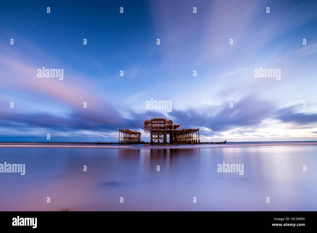 Molo Ovest di Brighton, East Sussex, England Regno Unito Foto Stock