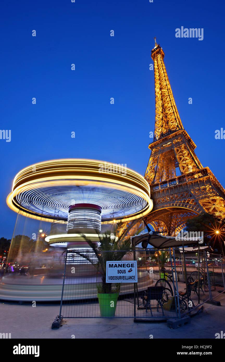 La Torre Eiffel, Parigi, Francia Immagini Stock