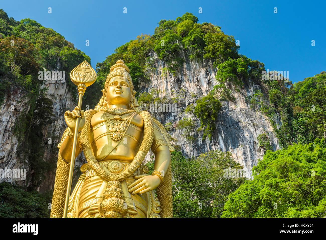Signore Murugan statua, la più grande statua di una divinità Indù in Malaysia all'ingresso Grotte Immagini Stock