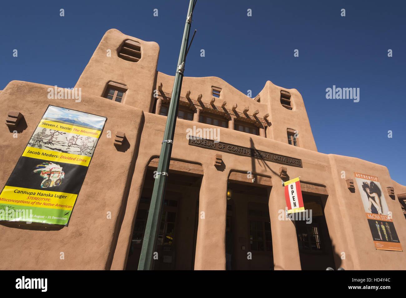 Nuovo Messico, Santa Fe, IAIA Museum of Contemporary Arts nativo Immagini Stock