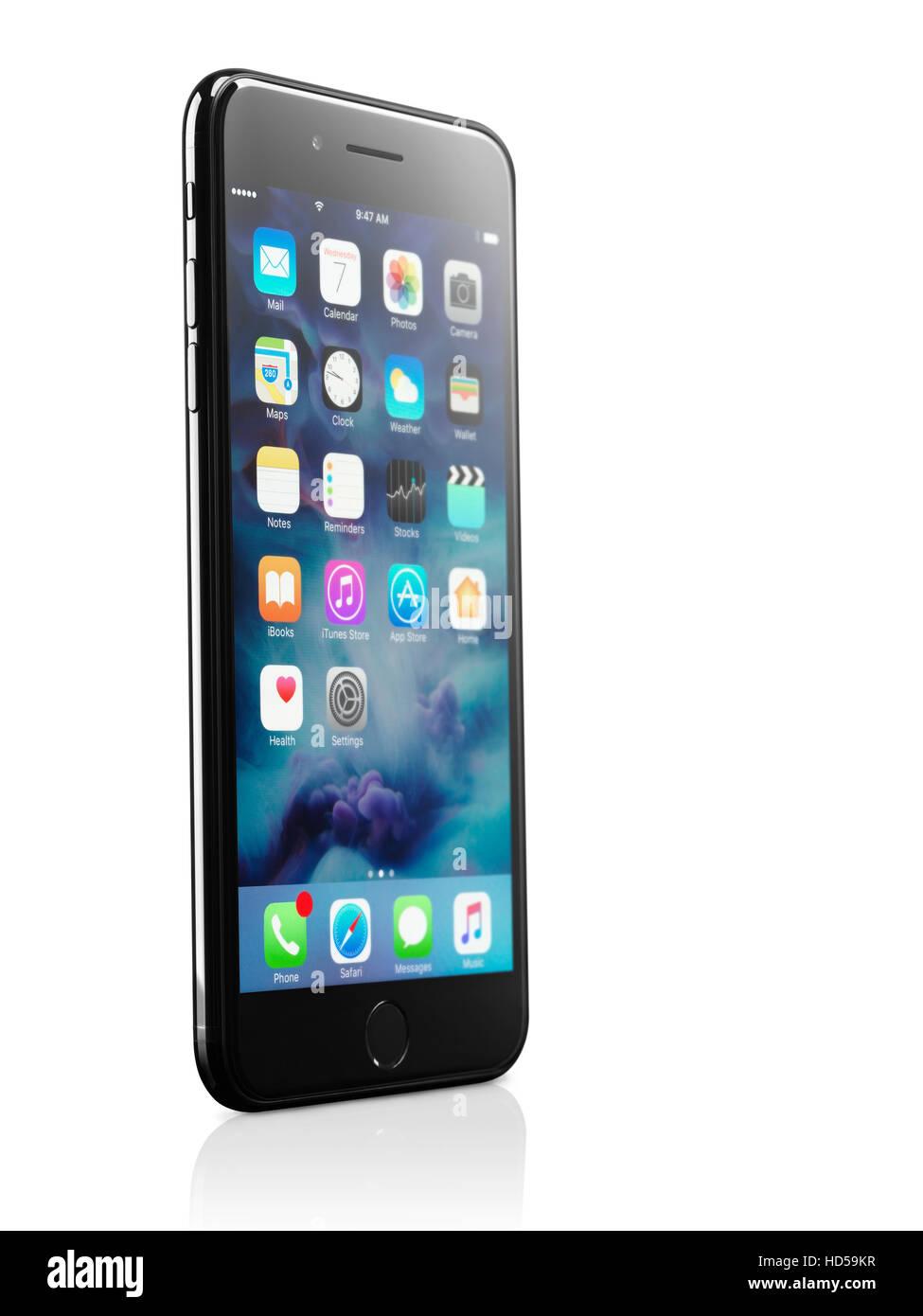 Apple Iphone 7 Più Isolato Su Sfondo Bianco Con Tracciato Di