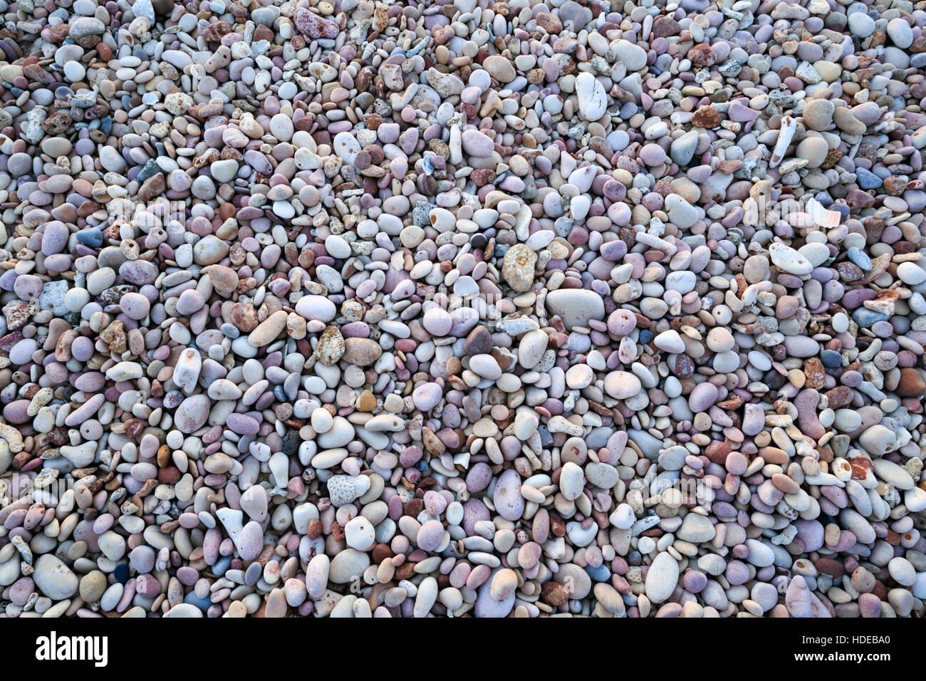Ciottoli a Pebble Beach a Exmouth, Australia occidentale Immagini Stock