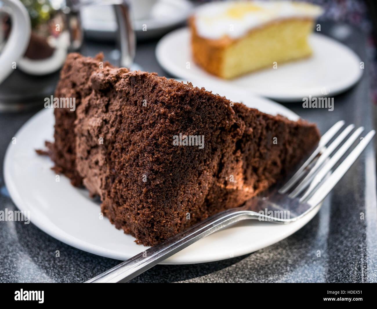 Torta al cioccolato Immagini Stock