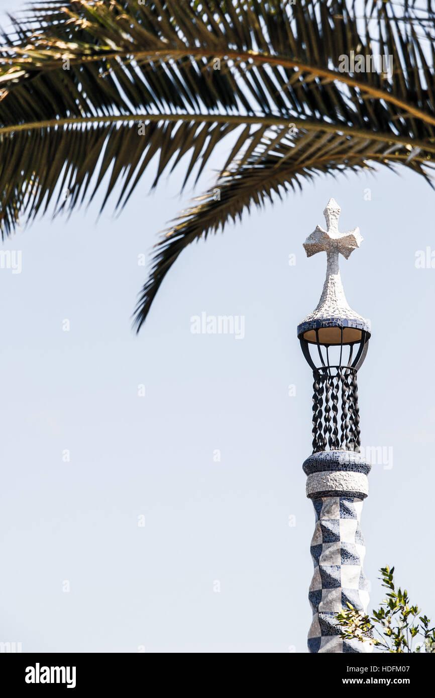 Architettura della verticale di Barcellona Immagini Stock