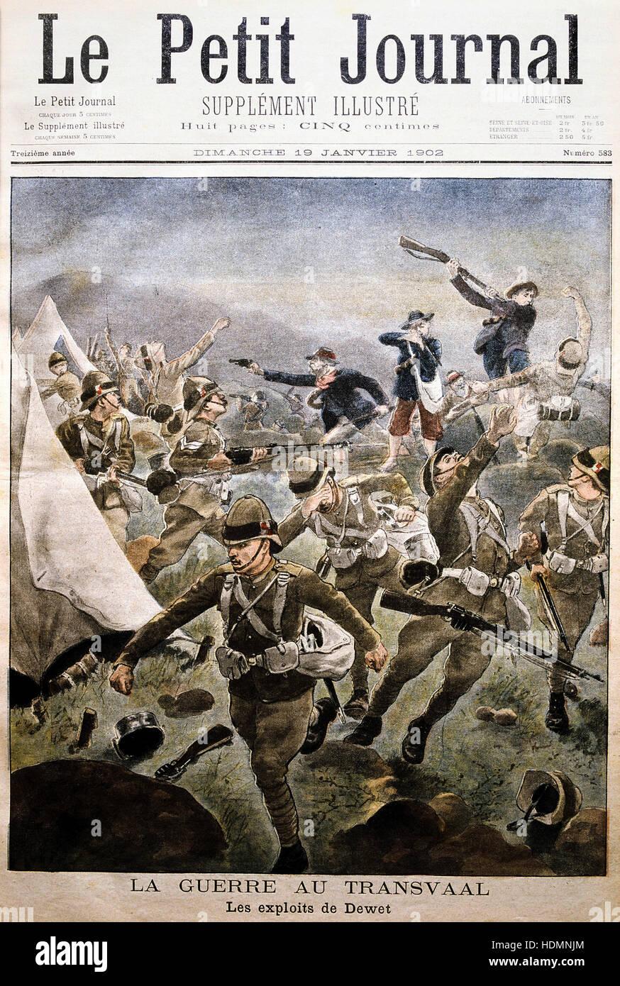 """""""Le Petit Journal' Paris 19 Gennaio 1902 - Guerra Boera - Transvaal Immagini Stock"""