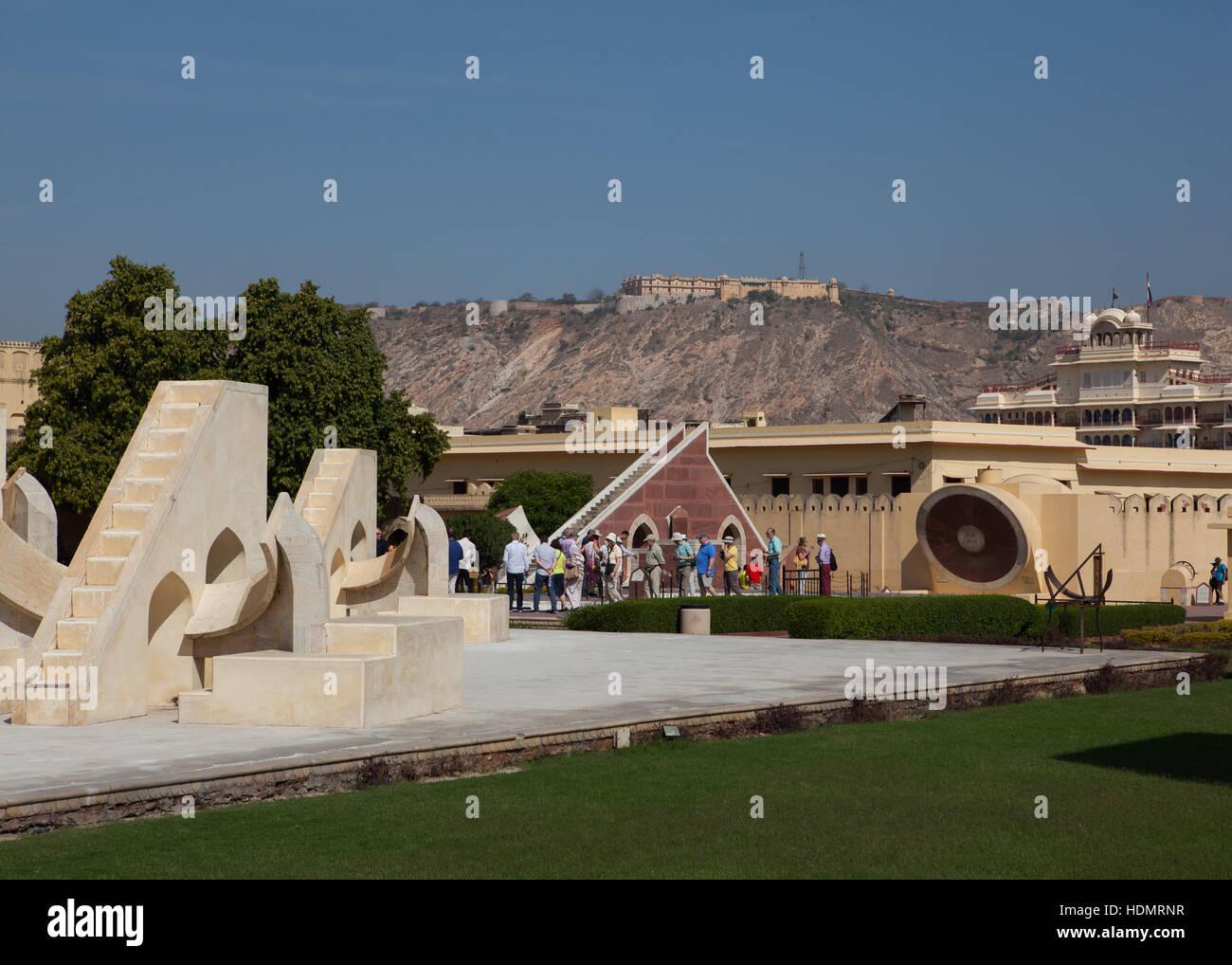 Jantar Mantar Osservatorio Astronomico,Jaipur Rajasthan,l'India Immagini Stock