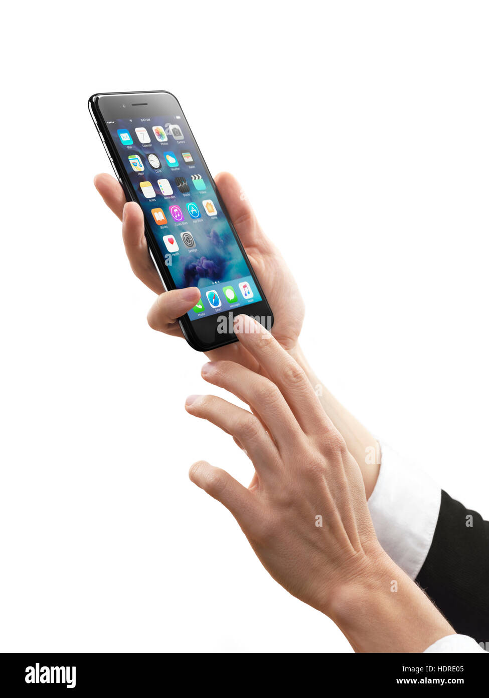 Donna Mani Apple Iphone 7 Smartphone Più Isolati Su Sfondo Bianco