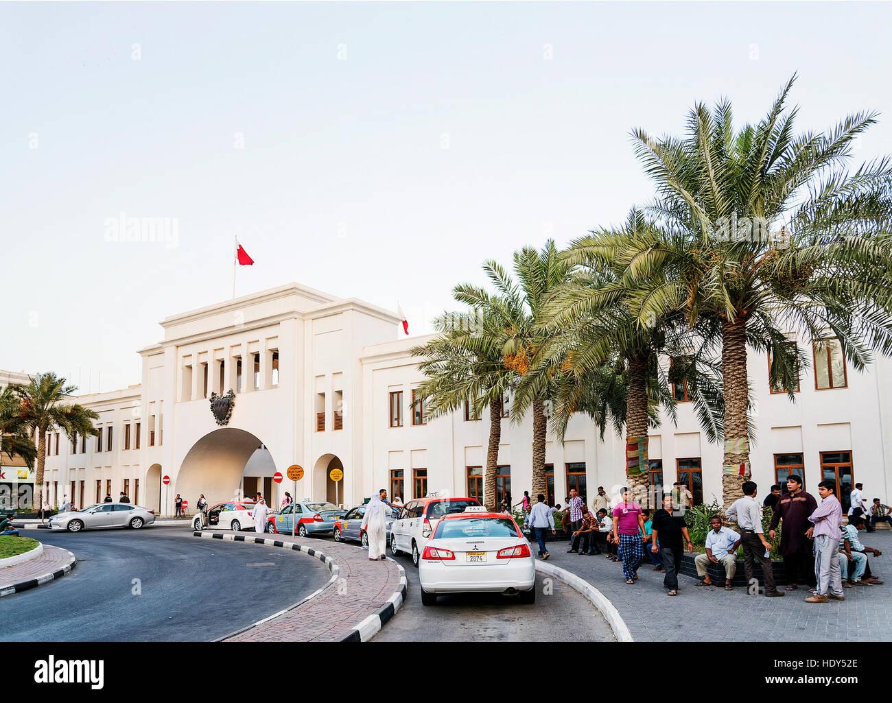 Bab al bahrain punto di riferimento nel centro cittadino di Manama Bahrain Immagini Stock