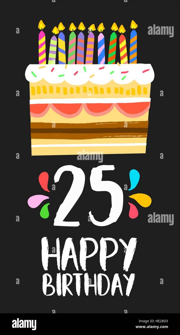 Favoloso Buon compleanno numero 25, biglietto di auguri per i venticinque LY75
