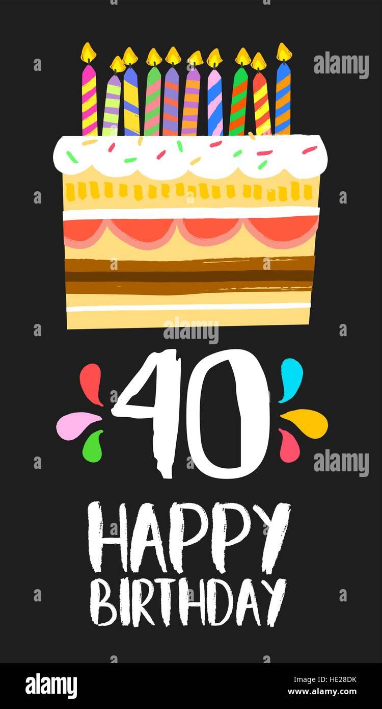 Auguri quarantesimo compleanno