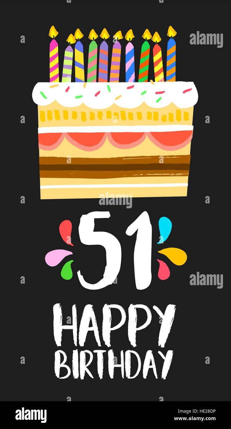 Buon Compleanno Numero 51 Biglietto Di Auguri Per Cinquanta Anni Di